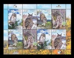 Belarus 2008 Mih. 750/53 Fauna. Birds. Owls (M/S) MNH ** - Belarus