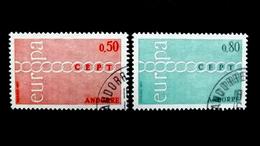 Andorra 232/3 Oo/ESST, EUROPA/CEPT 1971