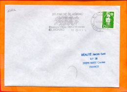 HTE GARONNE, Blagnac, Flamme SCOTEM N° 12142, 20km De Blagnac 1991 - Mechanical Postmarks (Advertisement)