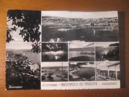 CARTOLINA  -  RICORDO DI TRIESTE 8 VEDUTINE     -   B  -  1096 - Trieste