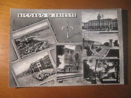 CARTOLINA  -  RICORDO DI TRIESTE 6 VEDUTINE     -   B  -  1097 - Trieste