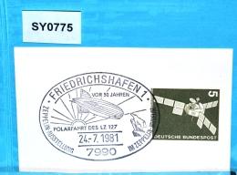 SY0775 50J Polarfahrt LZ 127 Graf Zeppelin, Eisbär, 7990 Friedrichshafen 24.7.81 - BRD