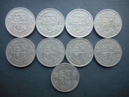 Mauritius 1 Rupee 1987-2010 (Lot Of 9 Coins) - Mauricio
