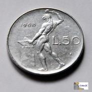 Italia - 50 Lire - 1968 - 1946-… : República