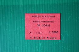 CHAMOIS - SCIOVIA FONTANAFREDDA  - 1972 - Sport Invernali