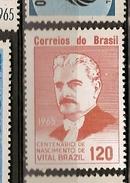 Brazil * & Centenary Of The Birth Of Vital Brazil 1965 (770) - Famous People