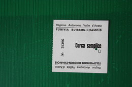 CHAMOIS - FUNIVIA BUISSON - CHAMOIS - 1972 - Sport Invernali