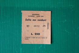 CHAMOIS - SEGGIOVIA LAGO DI LOD - 1971 - Sport Invernali