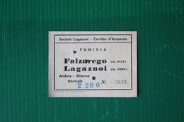 CORTINA D'AMPEZZO - FUNIVIA FALZAREGO-LAGAZUOI - 1969 - Sport Invernali