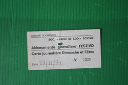 CHAMOIS - GIORNALIERO - 1971 - Sport Invernali