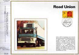 Feuillet Tirage Limité CEF 162 1807 Camion Transport Road Union - Cartoline Maximum