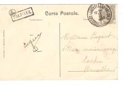 TP 81 S/CP Bouillon Intérieur Du Château C.Ambulant BXL - Arlon 2 + Griffe Encadrée Paliseul V.Laeken PR4204 - Postmark Collection