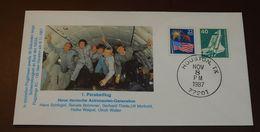 Space  Houston 1987  Parabelflug USA Deutschland   #cover3513 - Brieven & Documenten