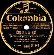 """78 T - 25 Cm - état TB - MILTON -  EMBRASSEZ-MOI """"Totor T'a Tort"""" """"Coquin D'amour"""" - 78 T - Disques Pour Gramophone"""