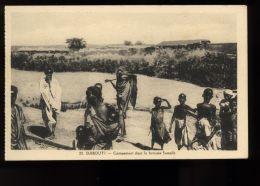 B3442 DJIBOUTI - CAMPEMENT DANS LA BROUSSE SOMALIS - Gibuti