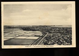 B3446 DJIBOUTI - VUE GÉNÉRALE DU VILLAGE INDIGÈNE - Gibuti