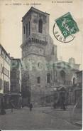 CPA France 30 Gard – Nîmes – La Cathédrale – Charrette Et Cheval – Publicité Nesle - Nîmes