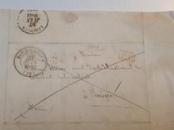 Courrier, Posté à BOURGANEUF, 1842, Pour LIMOGES ,cachet PP Rouge - Marcophilie (Lettres)
