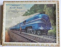 Puzzle Ancien En Bois Train The Coronation Scot Victory Jig Saw - Puzzle Games