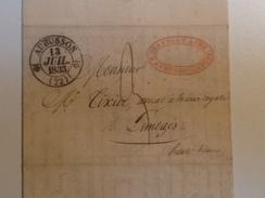 Courrier, Posté à AUBUSSON ,Creuse, 1833, Pour LIMOGES - Marcophilie (Lettres)