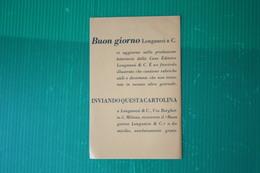 EDITORE LONGANESI - CARTOLINA RICHIESTA CATALOGO  - ANNI 50 - Libri, Riviste, Fumetti