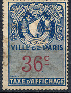 Stamp France Revenue,Fiscal,Tax Used Lot#83 - Fiscaux