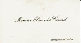 JEMEPPE SUR SAMBRE-CARTE DE VISITE MAURICE PONCELET GERARD - Cartes De Visite