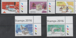 ARUBA, 2016, MNH, ANTIQUES, MUSIC, GRAMMOPHOES, SEWING MACHINES, IRONS, LAMPS, 5v - Arts
