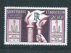 Timbres  De St Pierre Et Miquelon  PA De 1959  N°26  Neuf * - Airmail