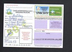 3806 - Carte De Pêche - La Gaule De Bourgoin Jallieu - 2013 - Unclassified
