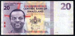 Swaziland 20 Emalangeni 2014 VF (free Shipping Via Regular Air Mail (buyer Risk) - Swaziland