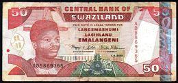 Swaziland 50 Emalangeni 2001 F-VF P-31a  (free Shipping Via Regular Air Mail (buyer Risk) - Swaziland
