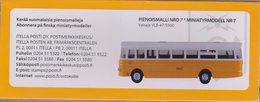 Finland Miniature Model Nr. 7 - Bus Vanaja VLB-47 / 5900 Issued By The Finnish Post - Discontinued - Auto's, Vrachtwagens, Bussen
