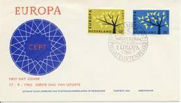 E53 (variant) - Blanco / Open Klep - Europa-CEPT-zegels 1962 - FDC