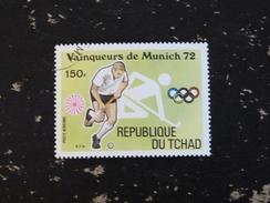 TCHAD YT PA 144B OBLITERE - JEUX OLYMPIQUES MUNICH - HOCKEY SUR GAZON - Tchad (1960-...)