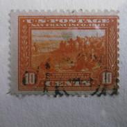 TIMBRE  ETATS  UNIS  D AMERIQUE  1912.15  10C  JAUNE  ORANGE - Usati
