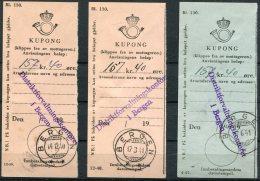 1940 - 41 Norway Bergen Kupong Distrikforvaltningskontoret Military X 3 Different 12-39, 12-40, 4-41 - Norway