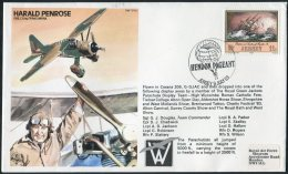 1983 Jersey Hendon Pagent RAF TP29 Parachute Jump. Royal Air Force Museum, Harald Penrose Test Pilot Flight Cover - Jersey