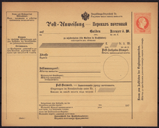Bulletin D´expédition Postal Money Order Postanweisung Parcel Post Stationery Austria Kuk K.u.K Ruthenische Ukraine - Stamped Stationery