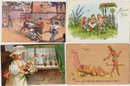 Lot 113 De 100 CPA Fantaisies Illustrateurs Déstockage Pour Revendeurs Ou Collectionneurs  PORT GRATUIT FRANCE - Cartes Postales