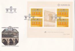 Portugal 1984 Souvenir Sheet FDC Europa CEPT (LAR3-B4) - 1984