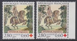 France 1995 Croix-Rouge 1v + 1v (carnet) ** Mnh (FR159J) - Unused Stamps