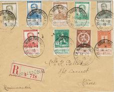 BELGIQUE LE HAVRE SPECIAL 14 Août 1915 Lettres En Recommandée Série Du N°108 à 115 + 120 - Gouvernement Belge En France - Weltkrieg 1914-18