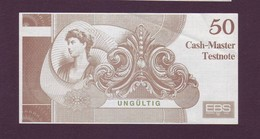 """Test Note  """"EBS """",  50, """"plan Object"""", Both Sides ,UNC - , Rare - Banknoten"""