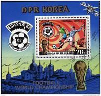 ESPANA Rimet-Pokal Fußball WM 1982 Korea Block 94 O 4€ Karte Maskottchen Bloque Hojita Bloc Ss Sheet Bf Coree Corea - Korea (...-1945)