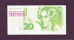 """Test Note  """"EBS """",  20 DM, """"Büchenbeuern"""", Glänzend, Both Sides ,UNC , Rare - Banknoten"""