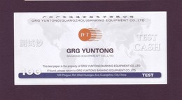"Test Note  ""GRG YUNTONG "",  100 , Both Sides ,UNC , Rare - Banknoten"