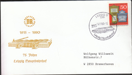 Germany Leipzig 1990 / Trains / Railway / 175 Jahre Hauptbahnhof - Trenes