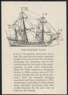 Sweden 'The Warship Wasa' Postcard - Warships
