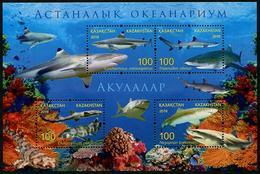 Kazakstan (2016) - Block -  /  Tiburon - Shark  - Marine Fauna - Fauna Marina - Marine Life